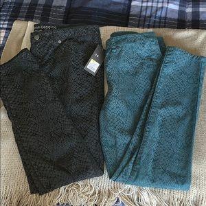 Two pairs of Mossimo denim leggings